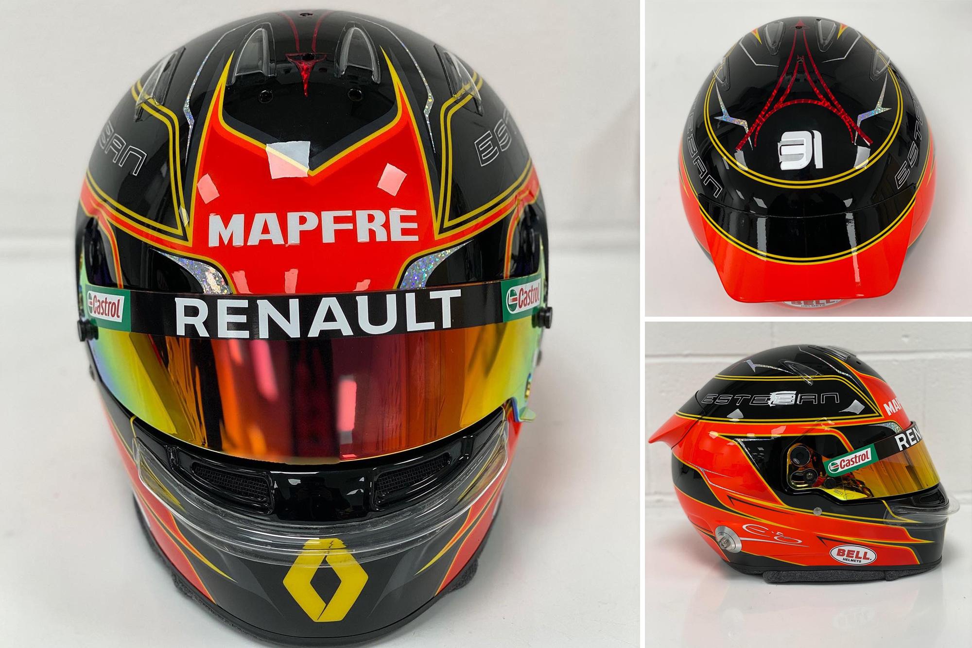 Esteban Ocon helmet