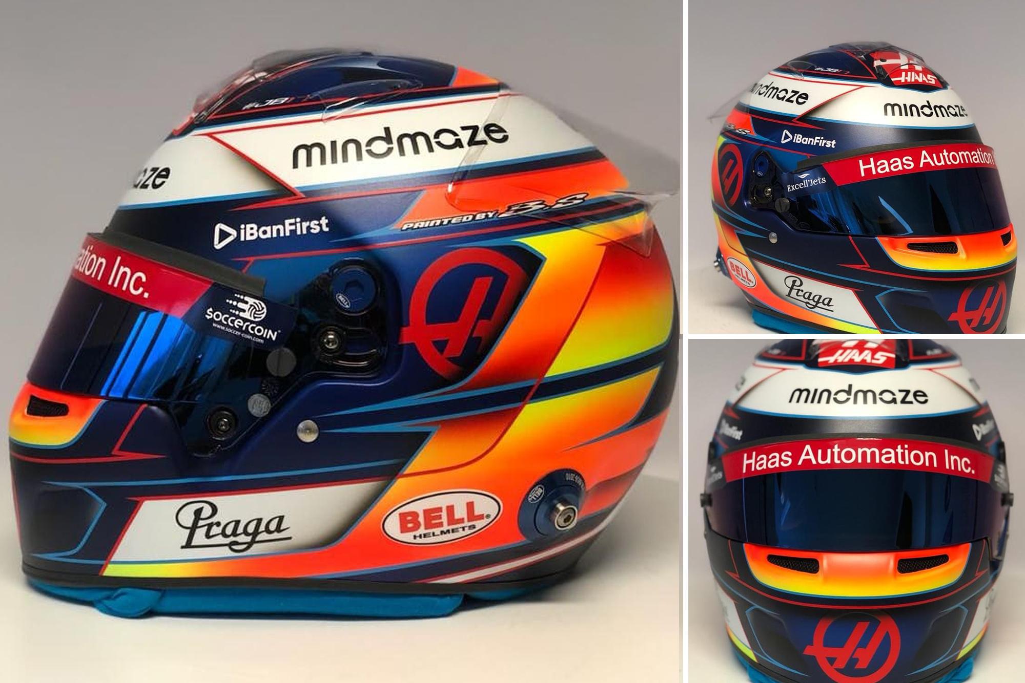 Romain Grosjean helmet