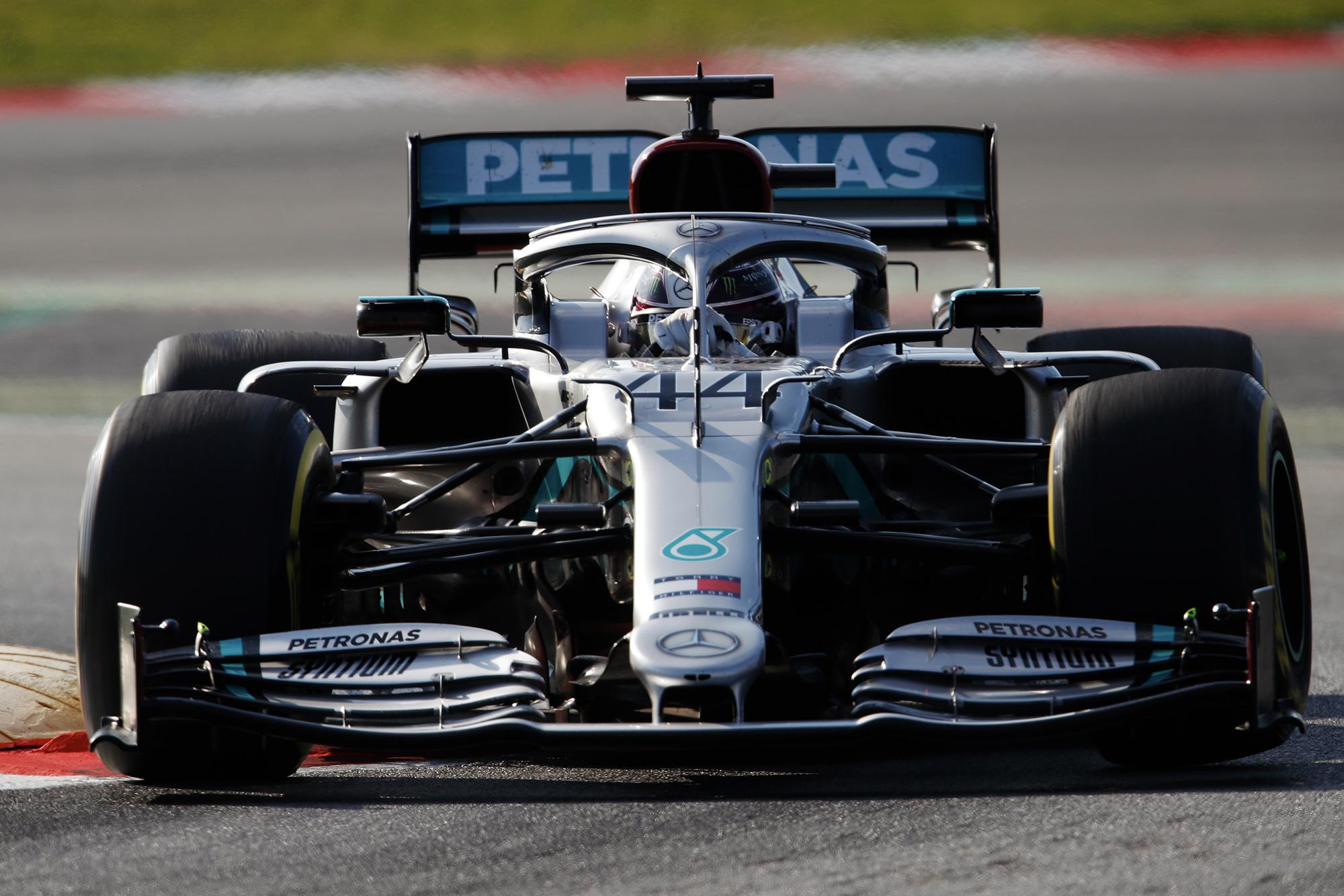 Lewis Hamilton preseason testing 2002 head on