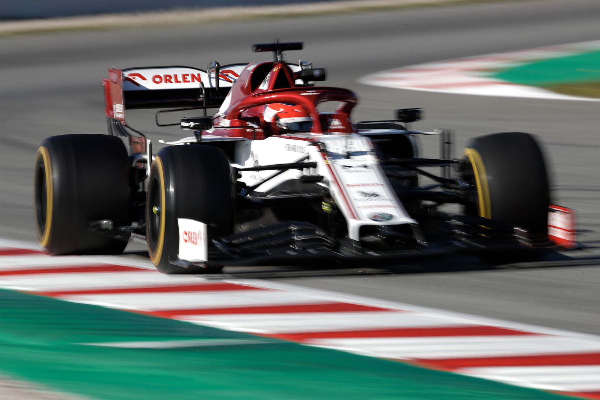 Robert Kubica tops day one of test two for Alfa Romeo