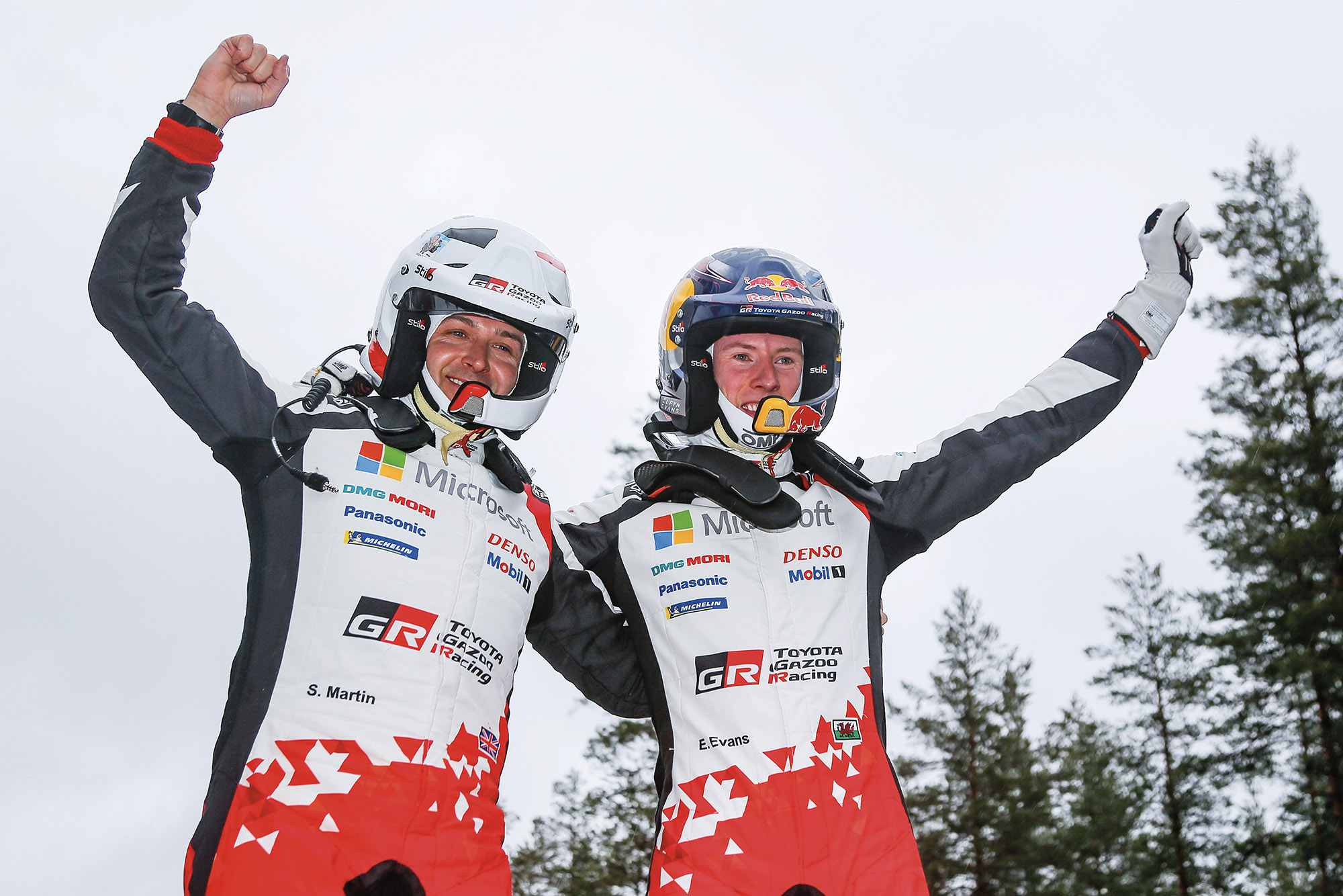 Toyota Evans win WRC rally