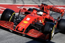 Vettel and Ferrari go fastest on day five of F1 testing as Mercedes hits trouble