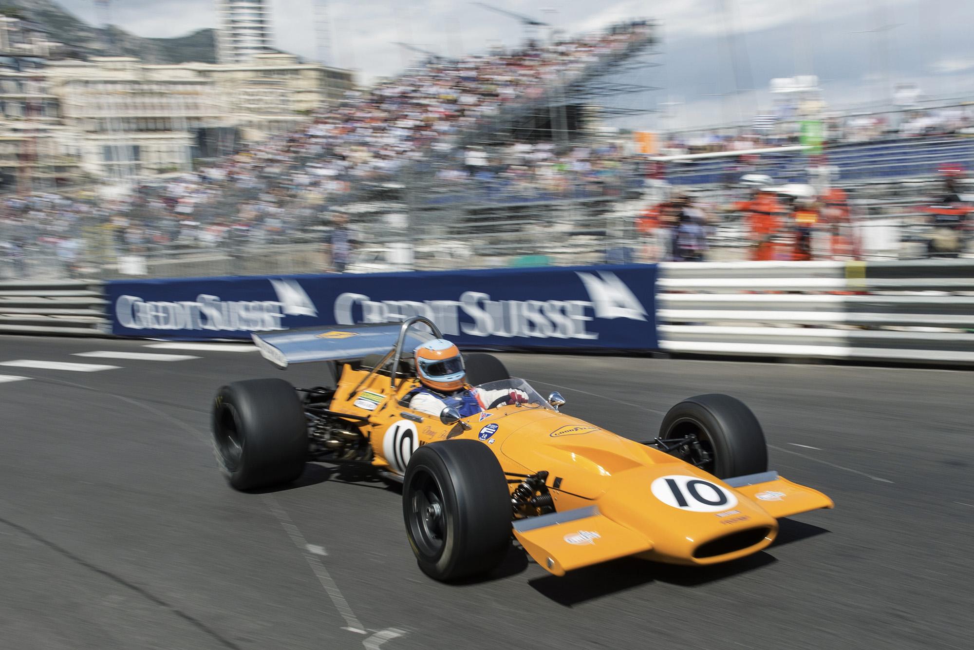 Track action at the 10th Grand Prix de Monaco Historique