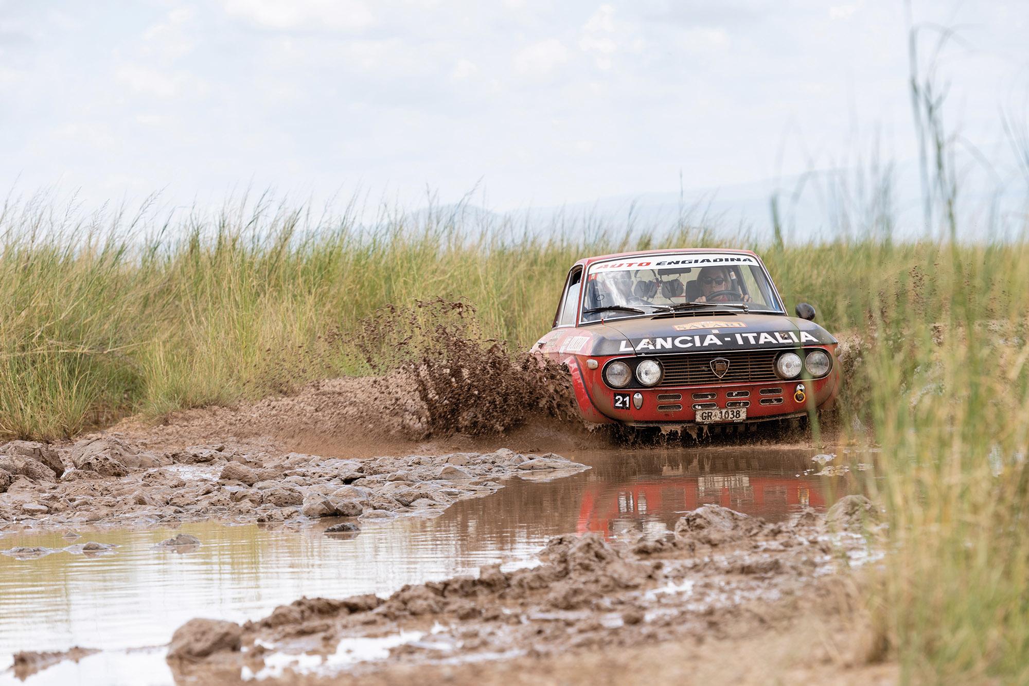 Rally the Globe Lancia mud
