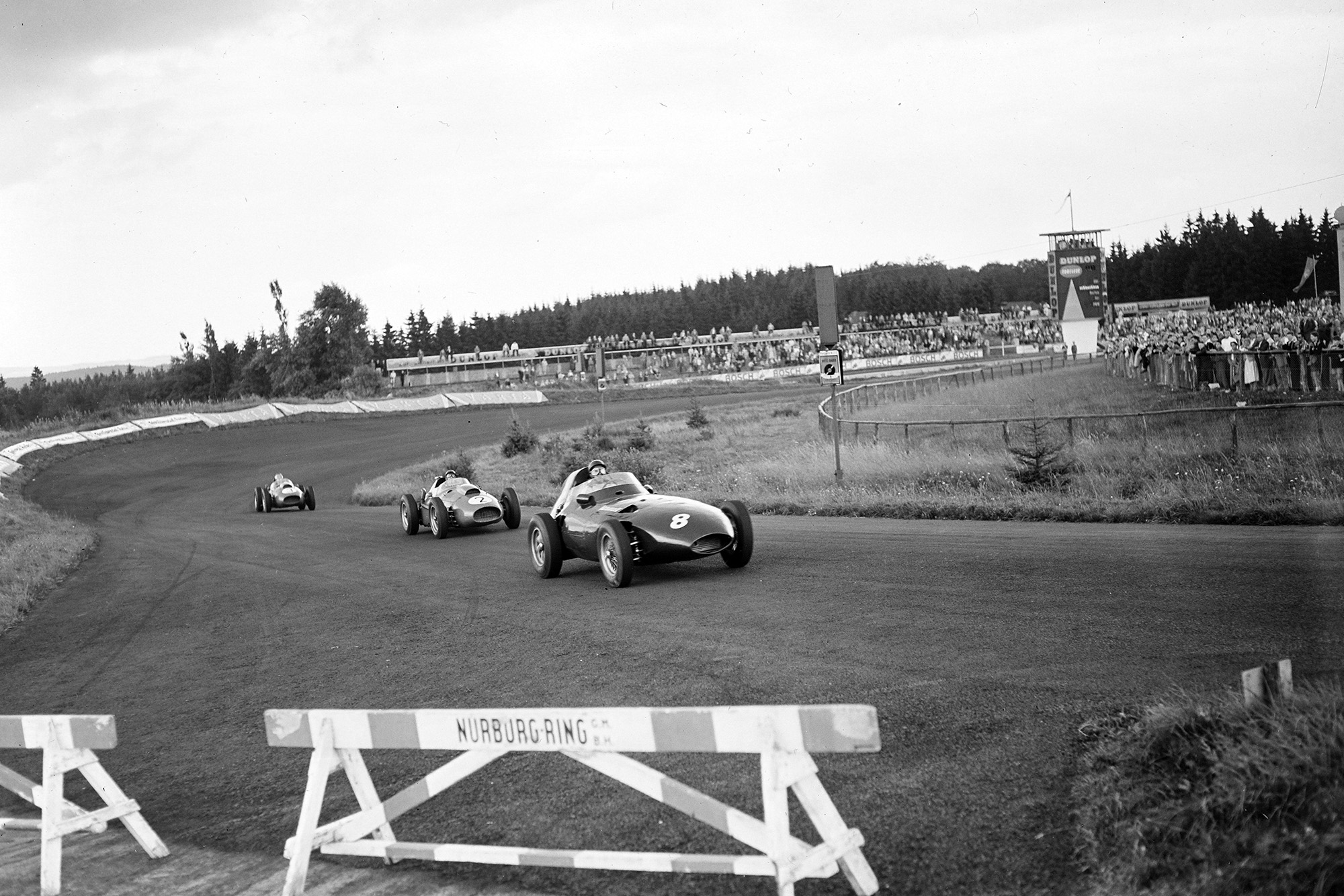 Tony Brooks leads Peter Collins in the 1958 German Grand Prix