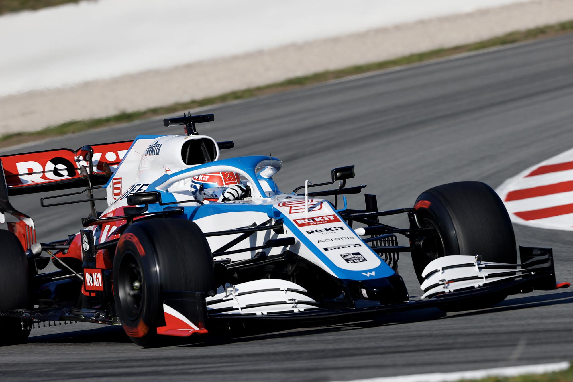 George Russell in 2020 F1 preseason testing