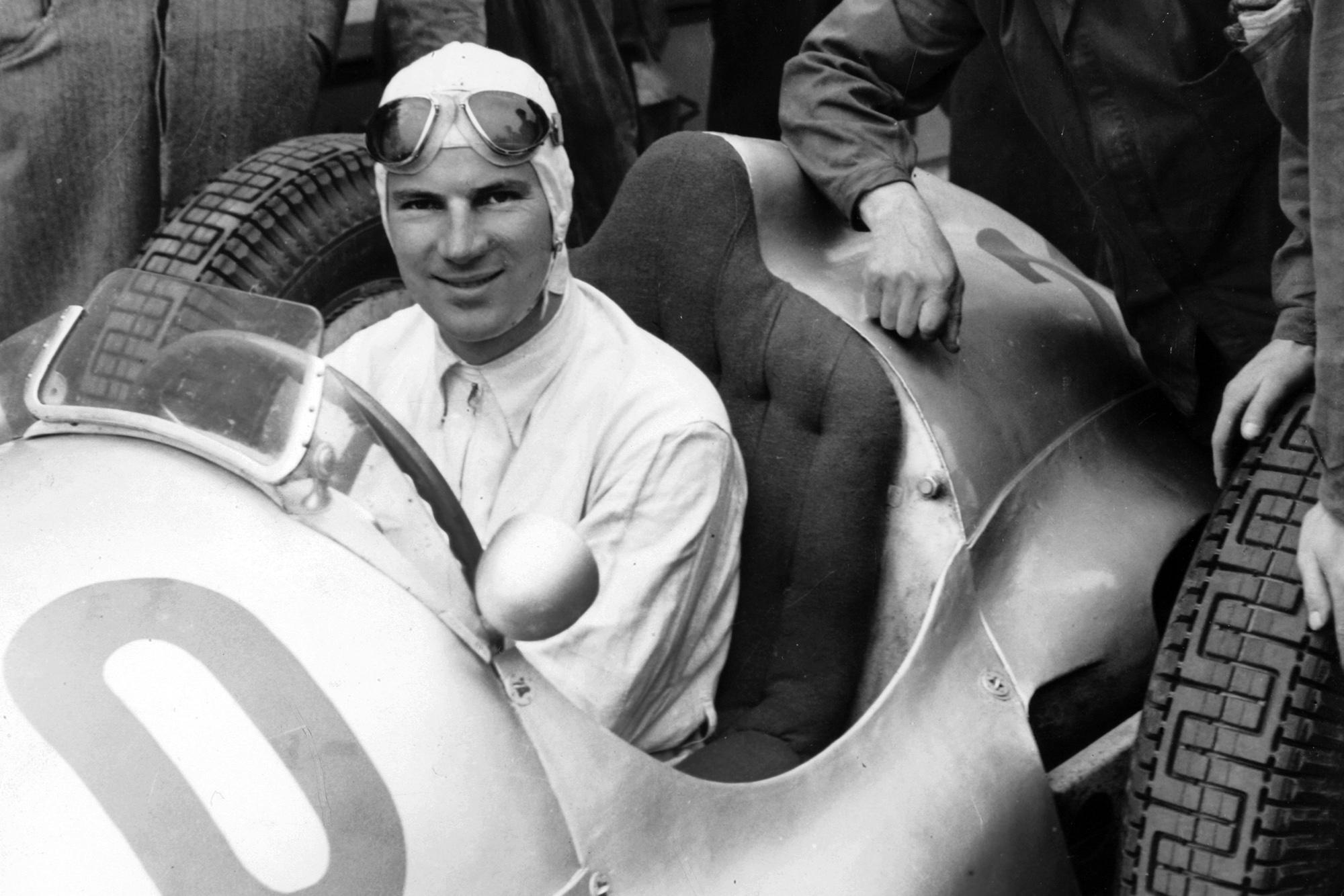 Dick Seaman in car Nurburgring 1937