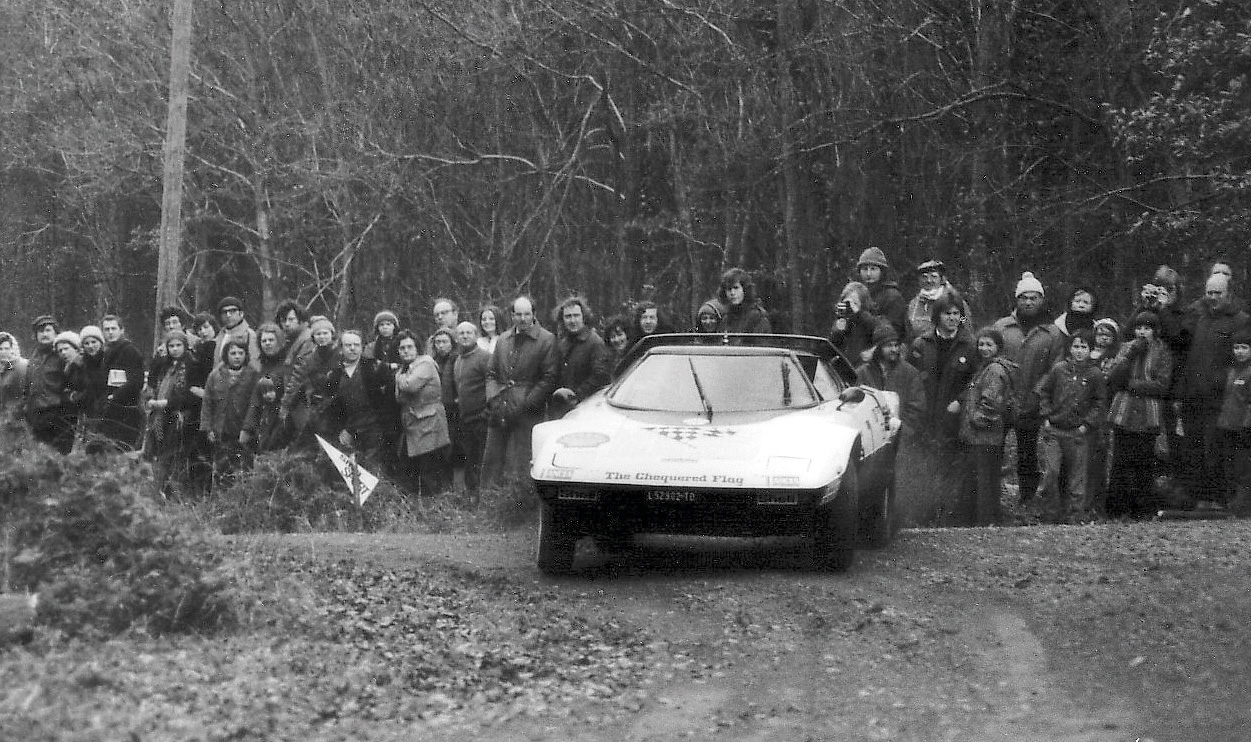 Chequered Flag Stratos on Forest of the Dean Rally