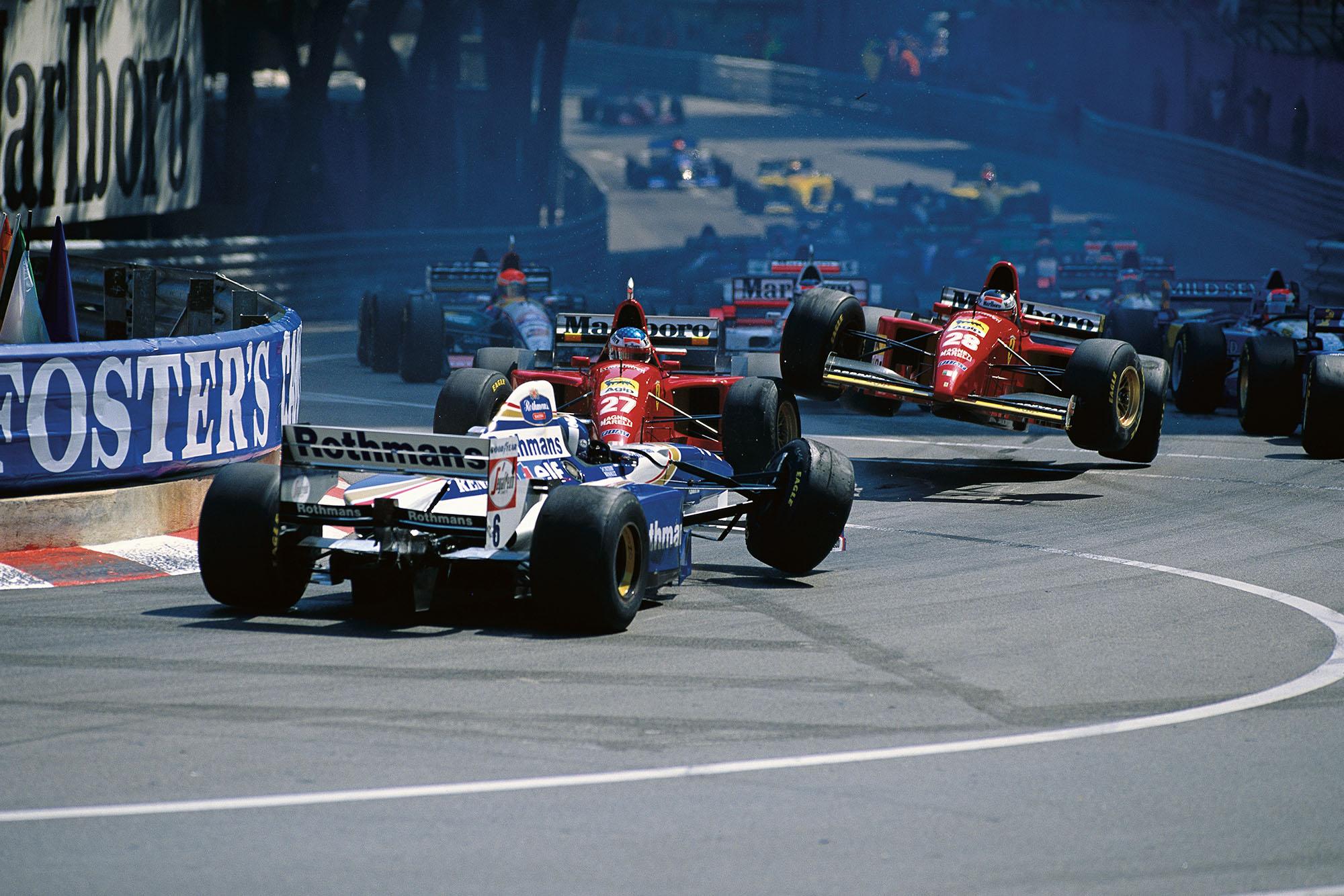 Monaco F1 start crash 1995