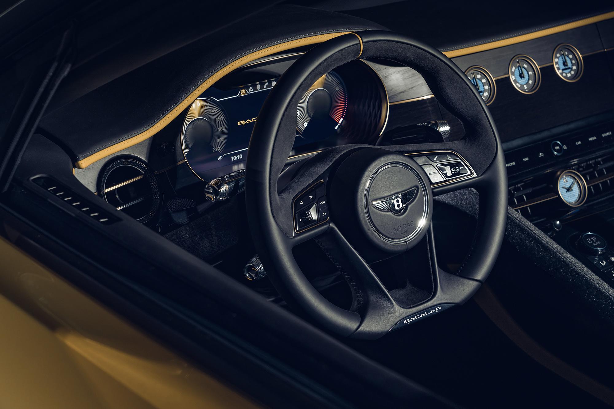 Bentley Bacalar steering wheel