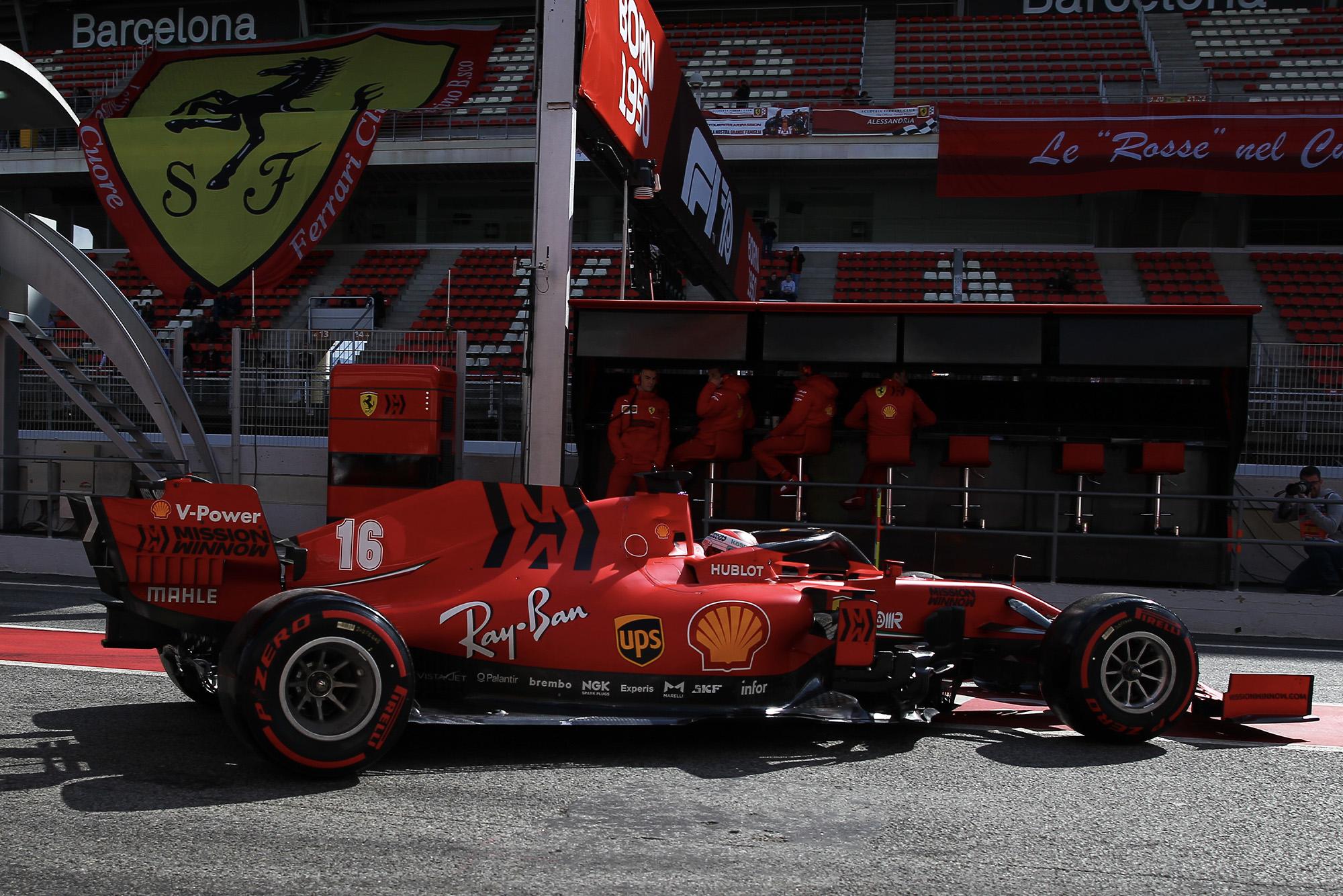 Ferrari of Charles Leclerc