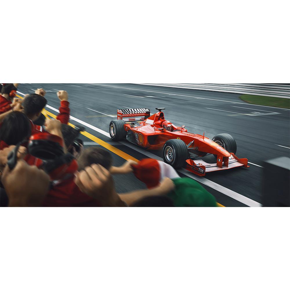 Product image for Crossing The Line, Raising The Bar   Michael Schumacher - Ferrari - 2000   Automobilist   Limited Edition print