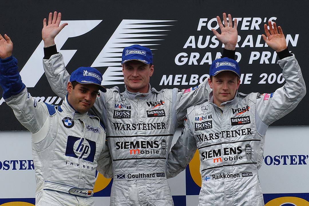 203 Australian Grand Prix podium