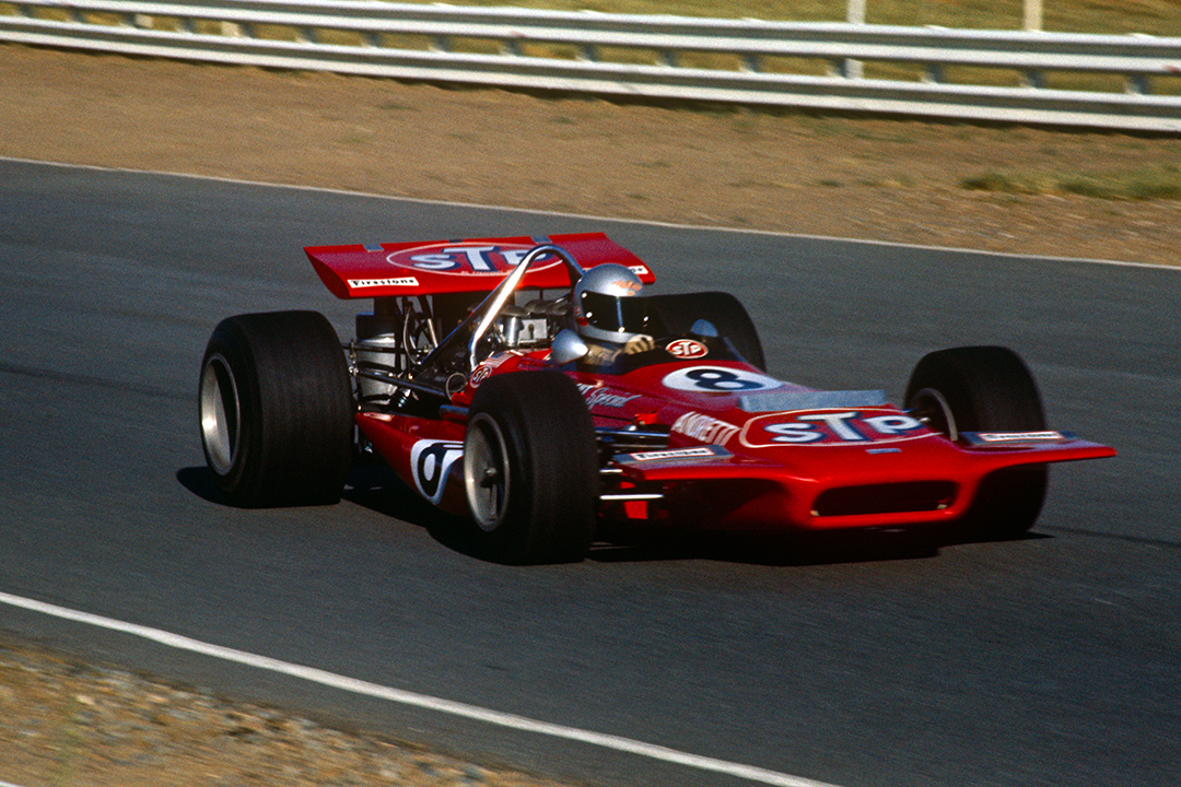 Mario Andretti in the March 701 during the 1970 South African Grand Prix