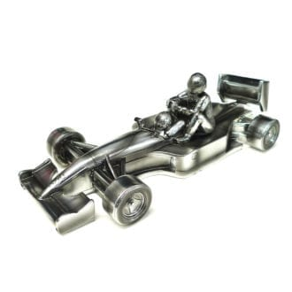 Product image for 'Taxi for Senna'   Nigel Mansell - Williams FW14  - 1991   Chrome Sculpture   signed Nigel Mansell