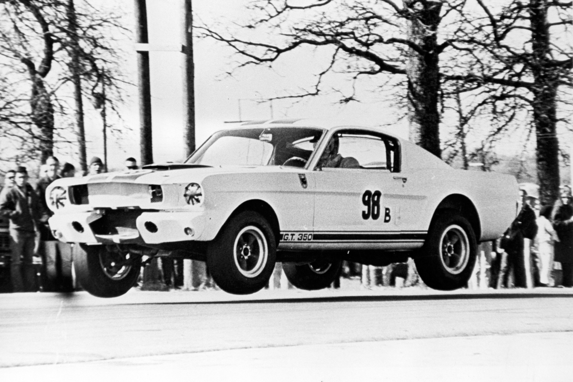 Ken Miles gets some air in the GT350R