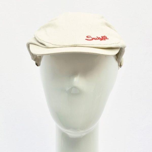 Suixtil Linen Race Cap in Beige