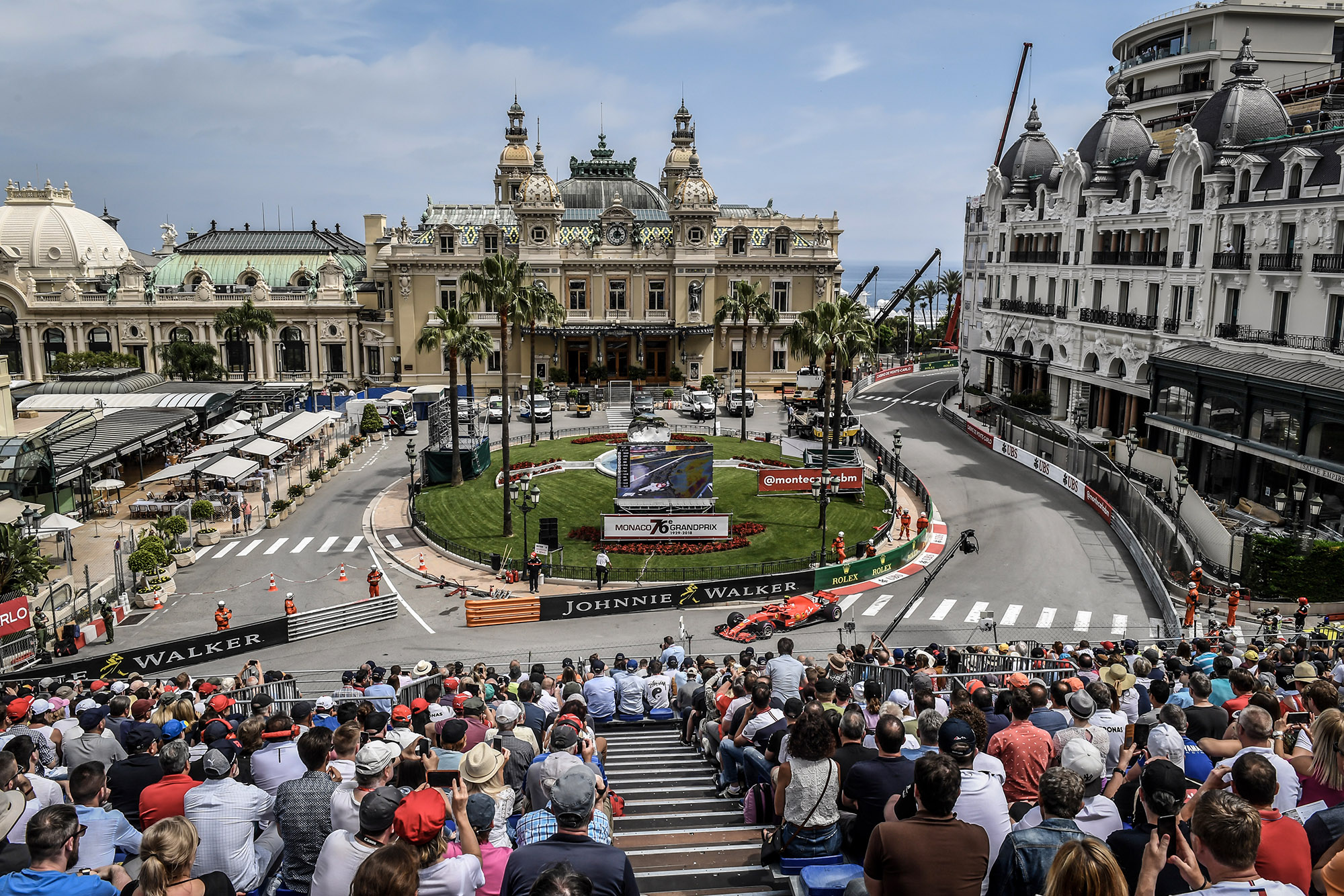 2018 Monaco Grand Prix Kimi Raikkonen in Casino Square