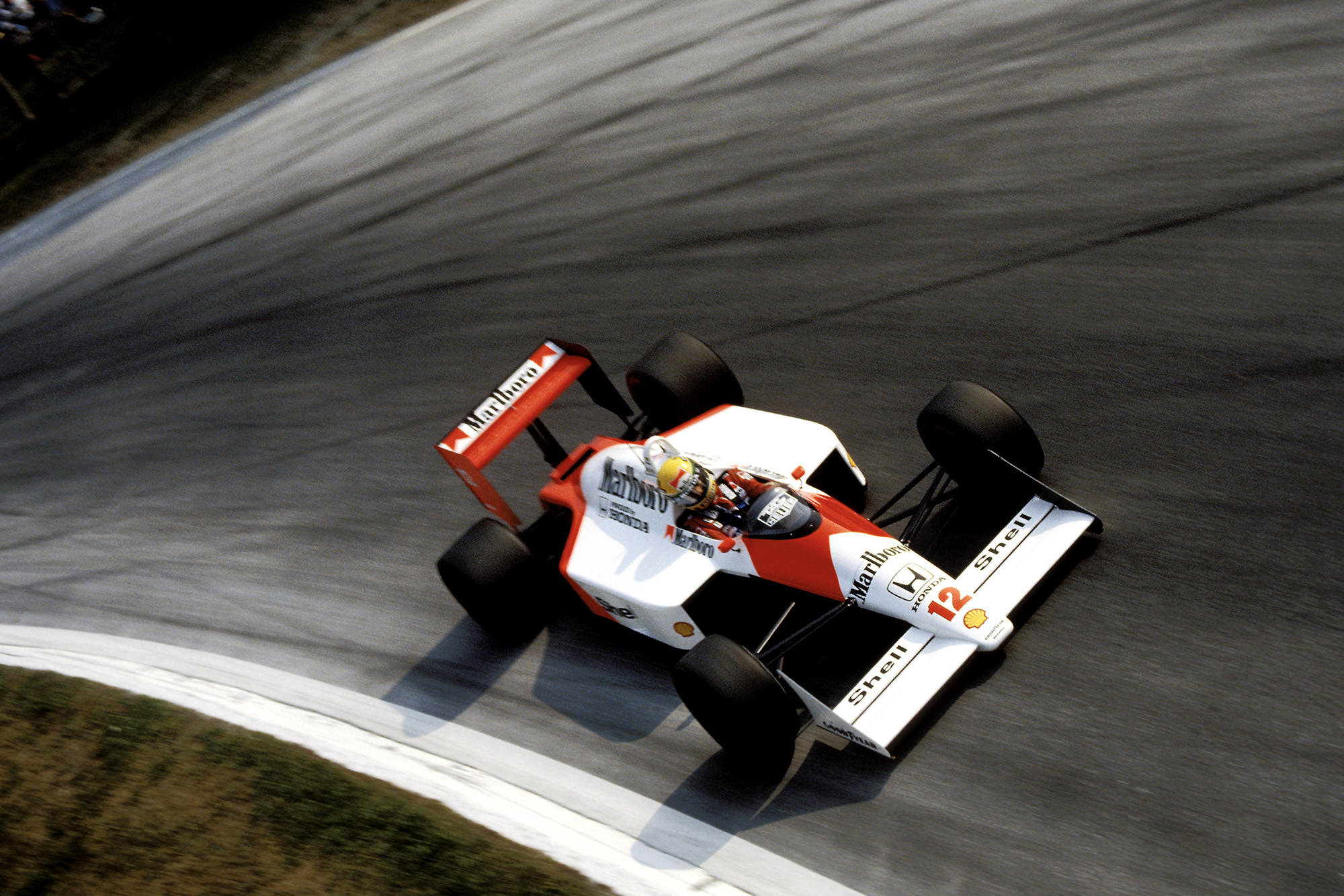 Ayrton Senna in the McLaren Honda at the 1988 Italian Grand Prix
