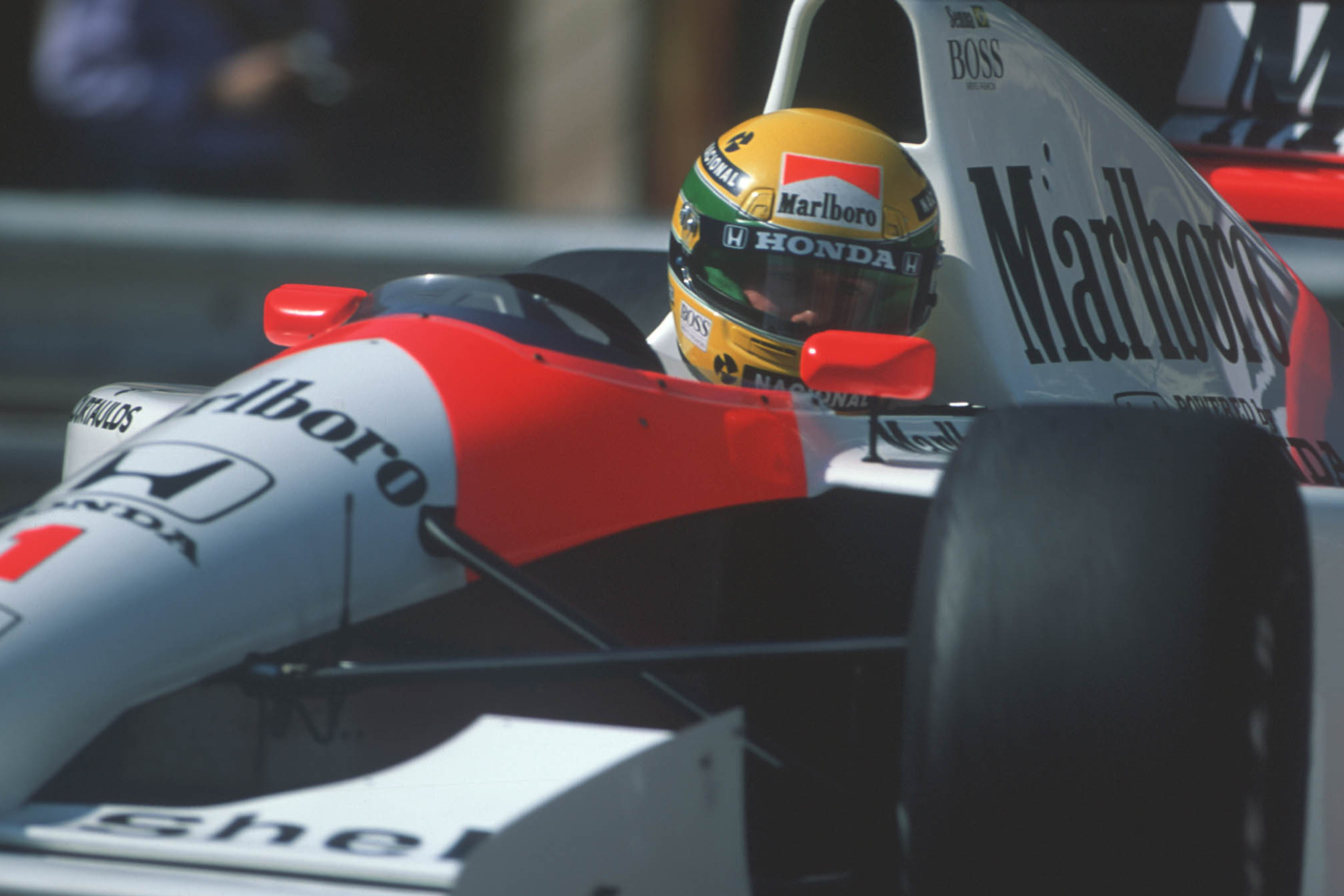 Ayrton Senna in the McLaren