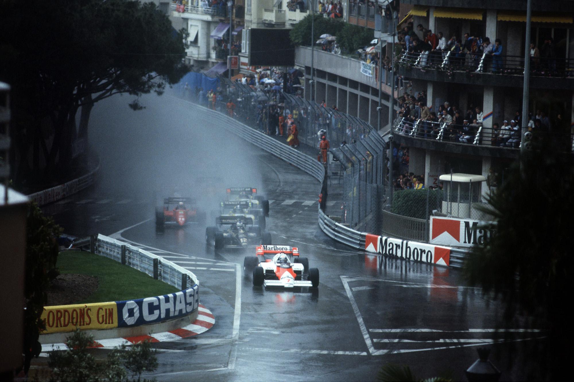 1984 Monaco Grand prix start