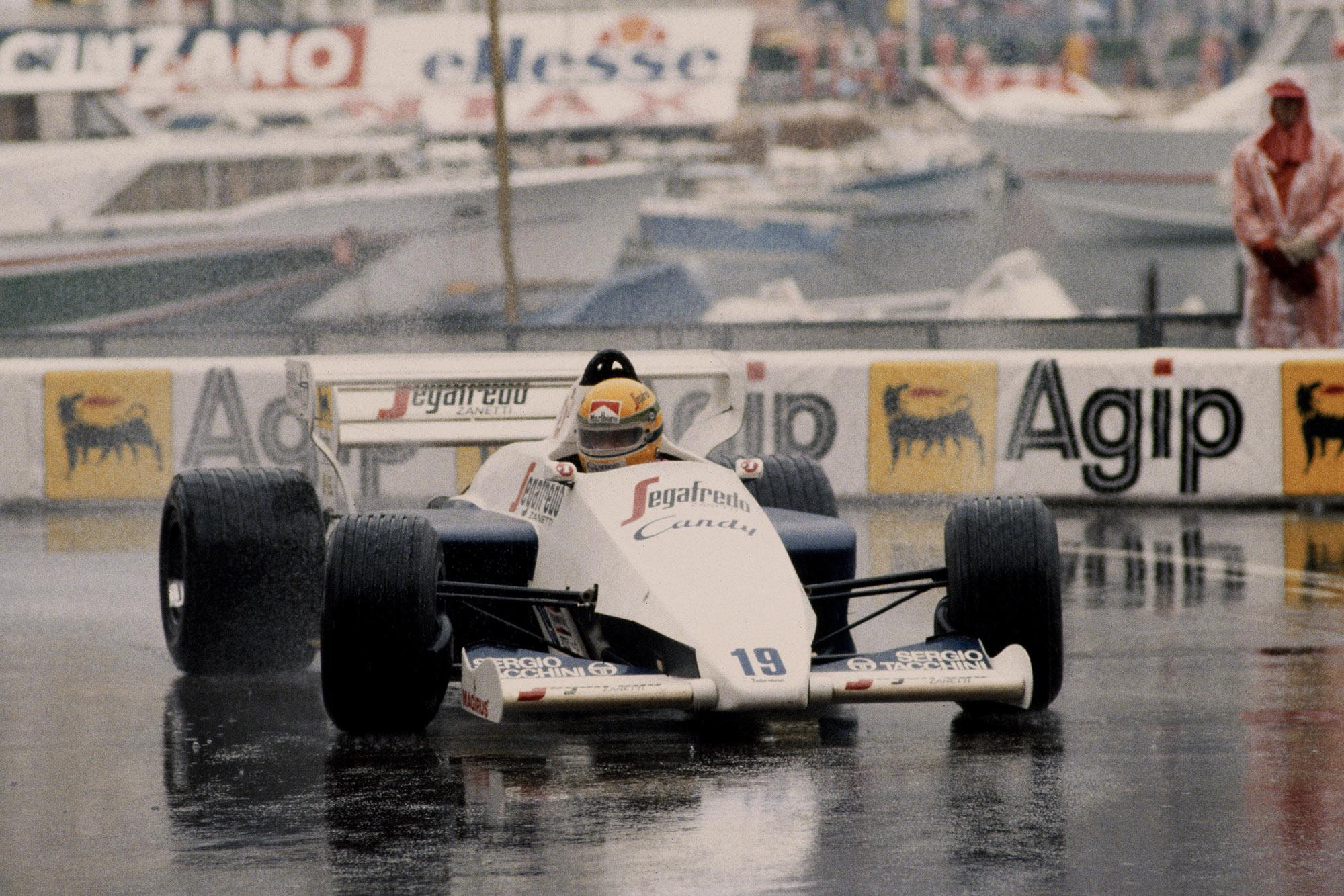 Ayrton Senna during the 1984 Monaco Grand Prix
