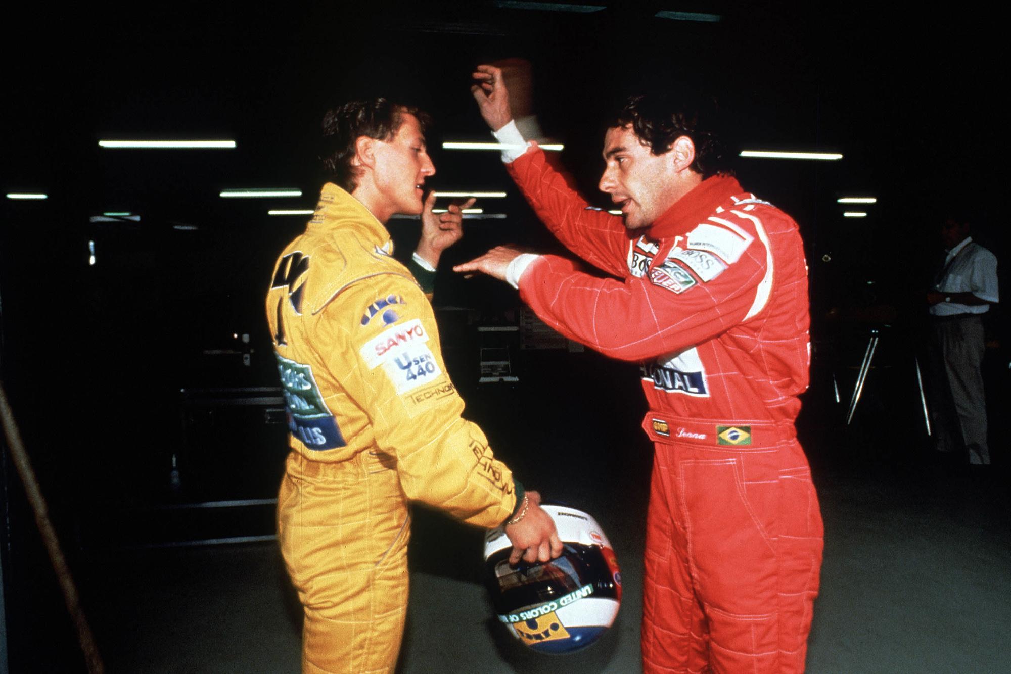 Ayrton Senna accuses Michael Schumacher of blocking him on track ahead of the 1992 German Grand Prix
