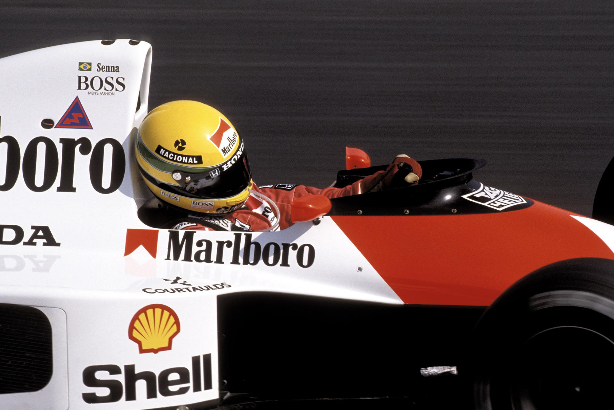 Ayrton Senna at the 1990 Hungarian Grand Prix