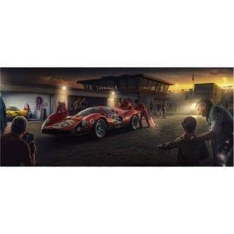 Product image for My Childhood Champion | Pedro Rodriguez  - Ferrari 412P - 1967 | Automobilist | Limited Edition print