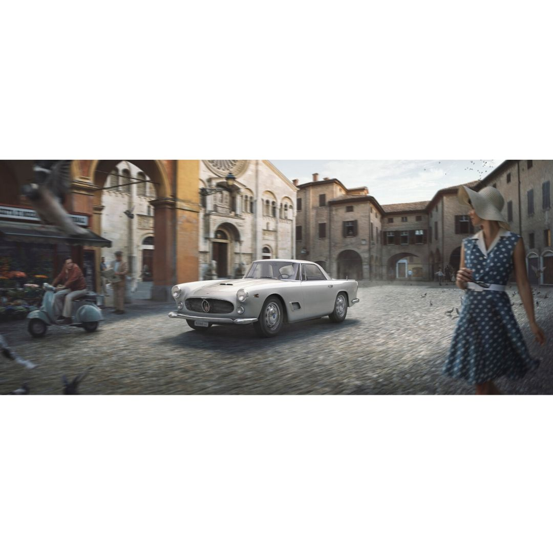 Product image for The White Dame   Maserati 3500GT - 1957   Automobilist   Limited Edition print