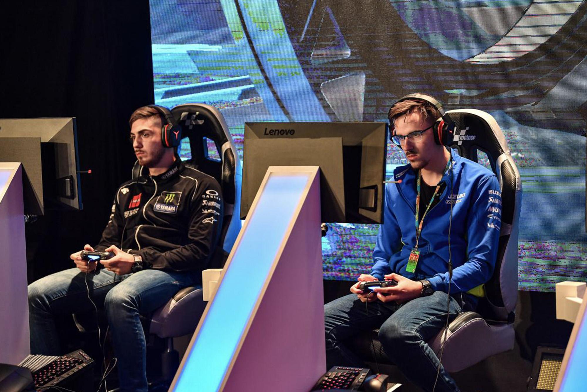 Gamers at MotoGP esports tournament