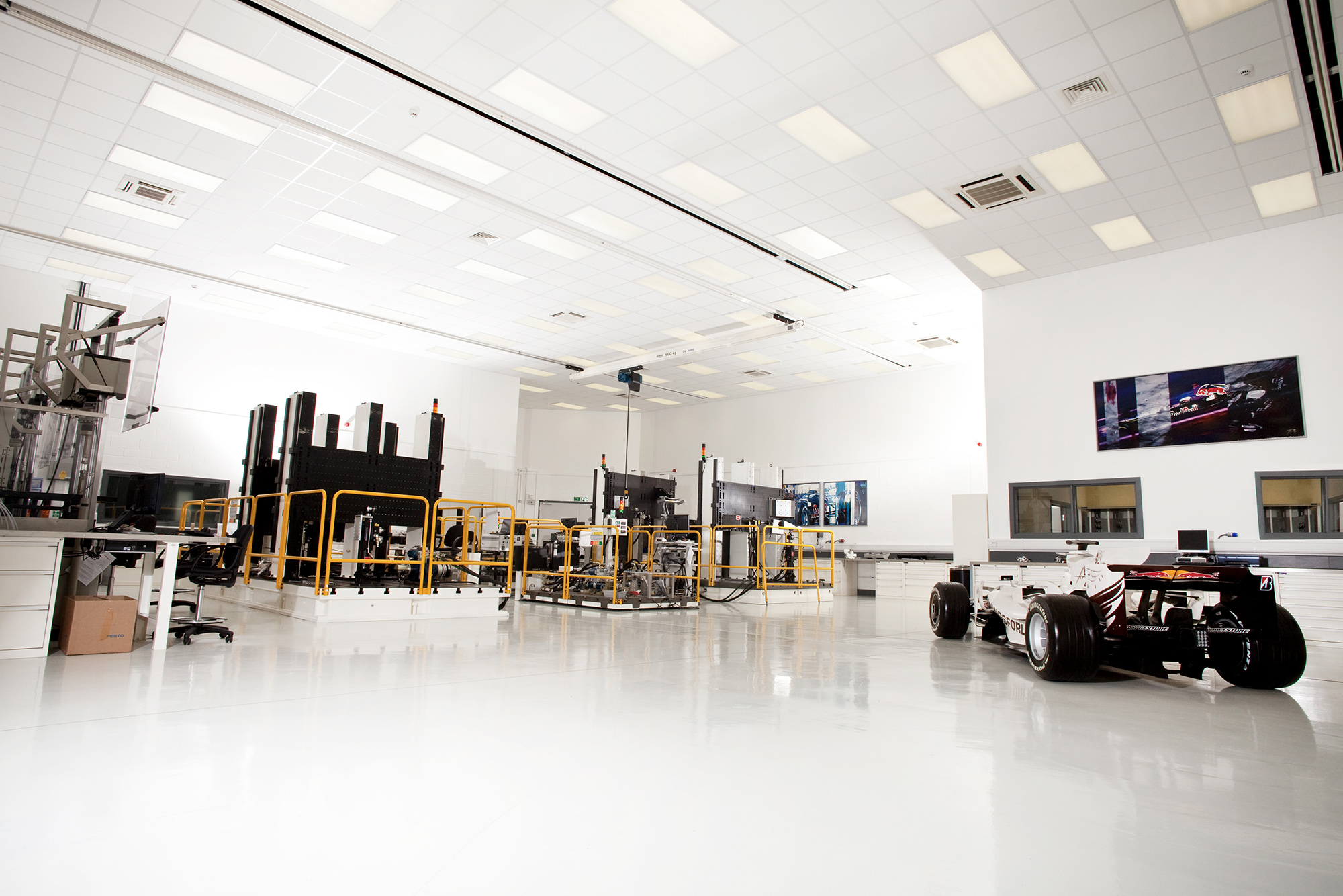View of the Red Bull Formula 1 factory