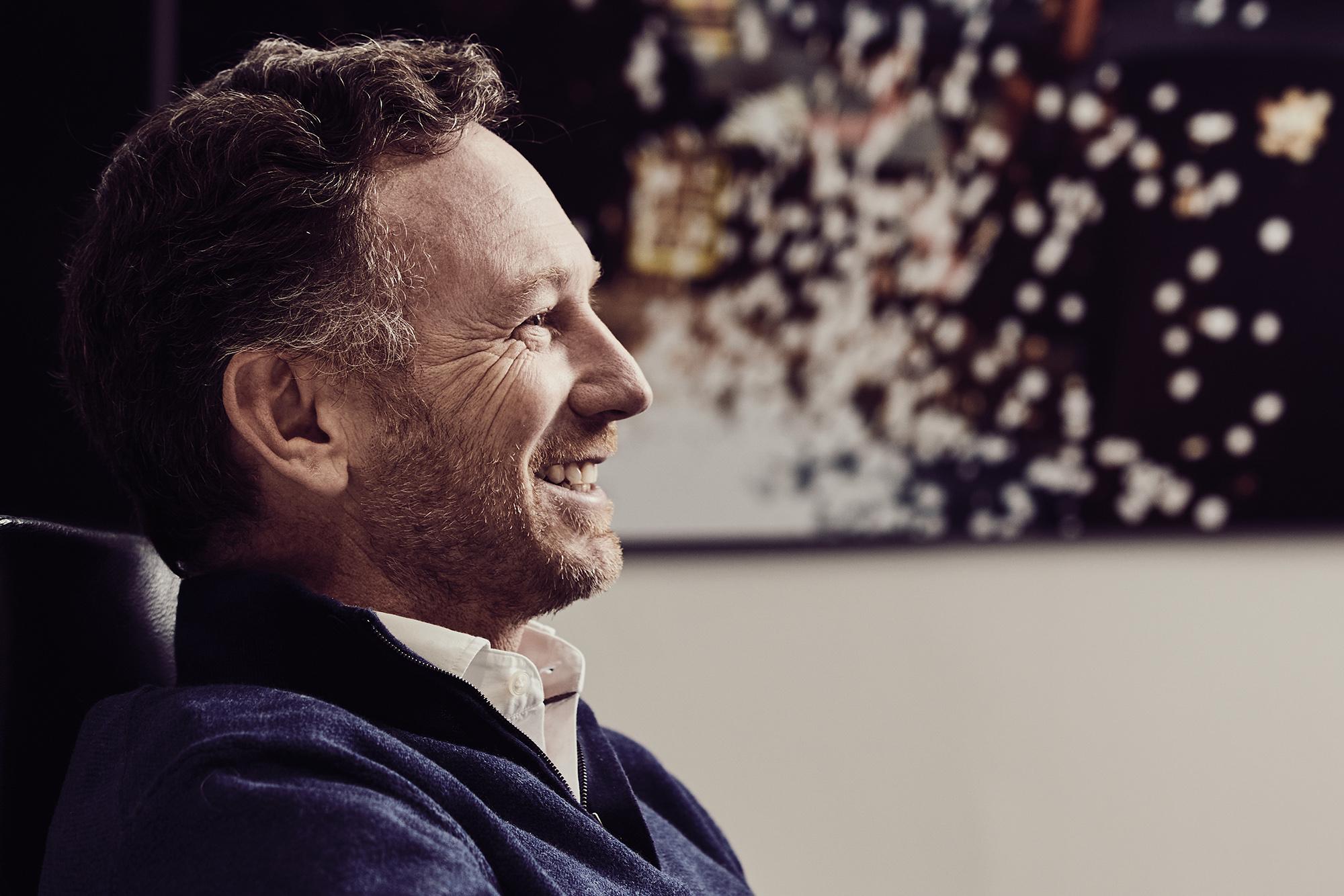 Christian Horner portrait side