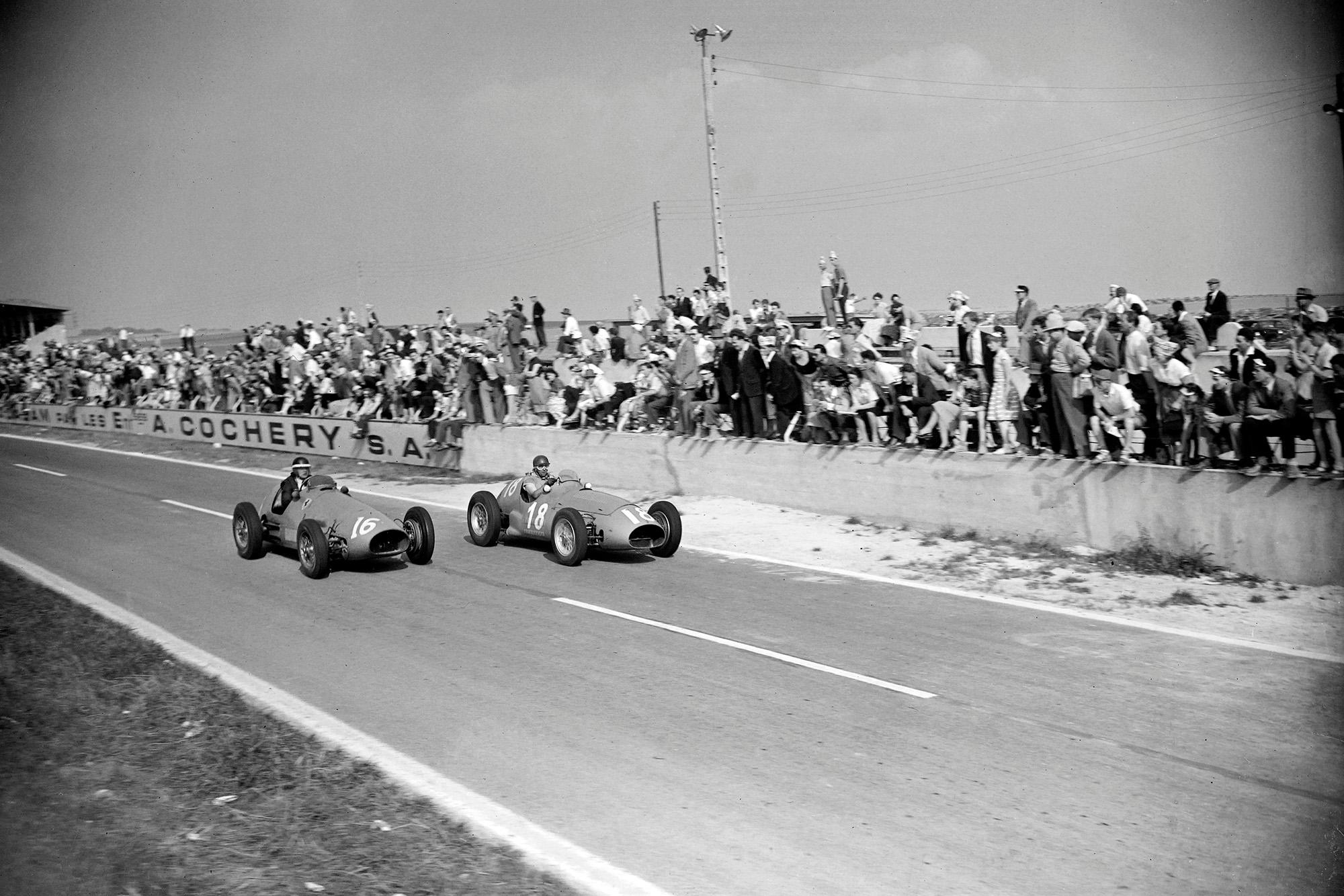 Fangio Hawthorn Reims 1953
