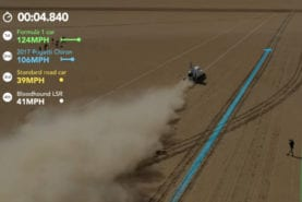 Video: Formula 1 car vs Bugatti Chiron vs Bloodhound LSR drag race