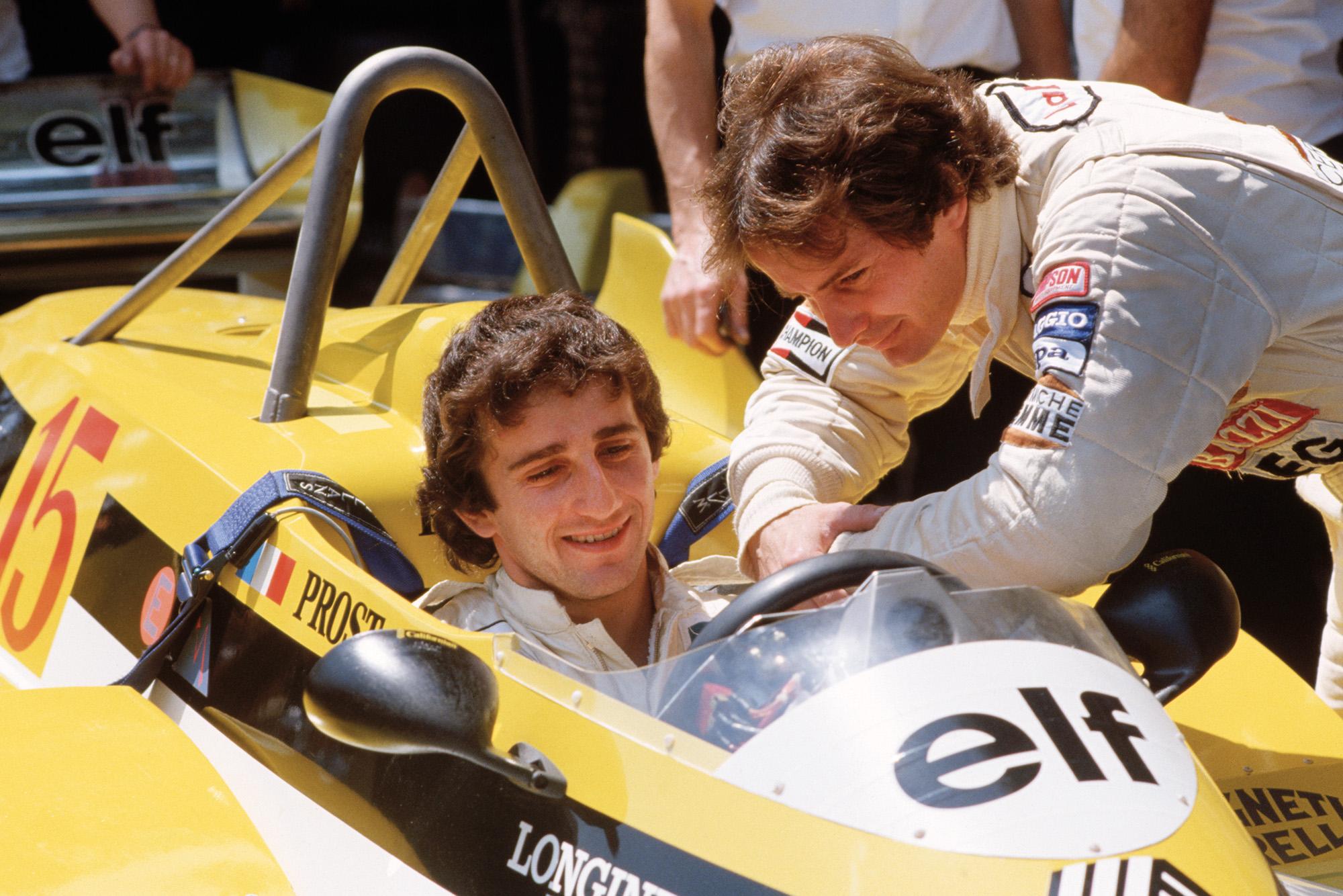 Alain Prost Gilles Villeneuve 1981 Monaco GP