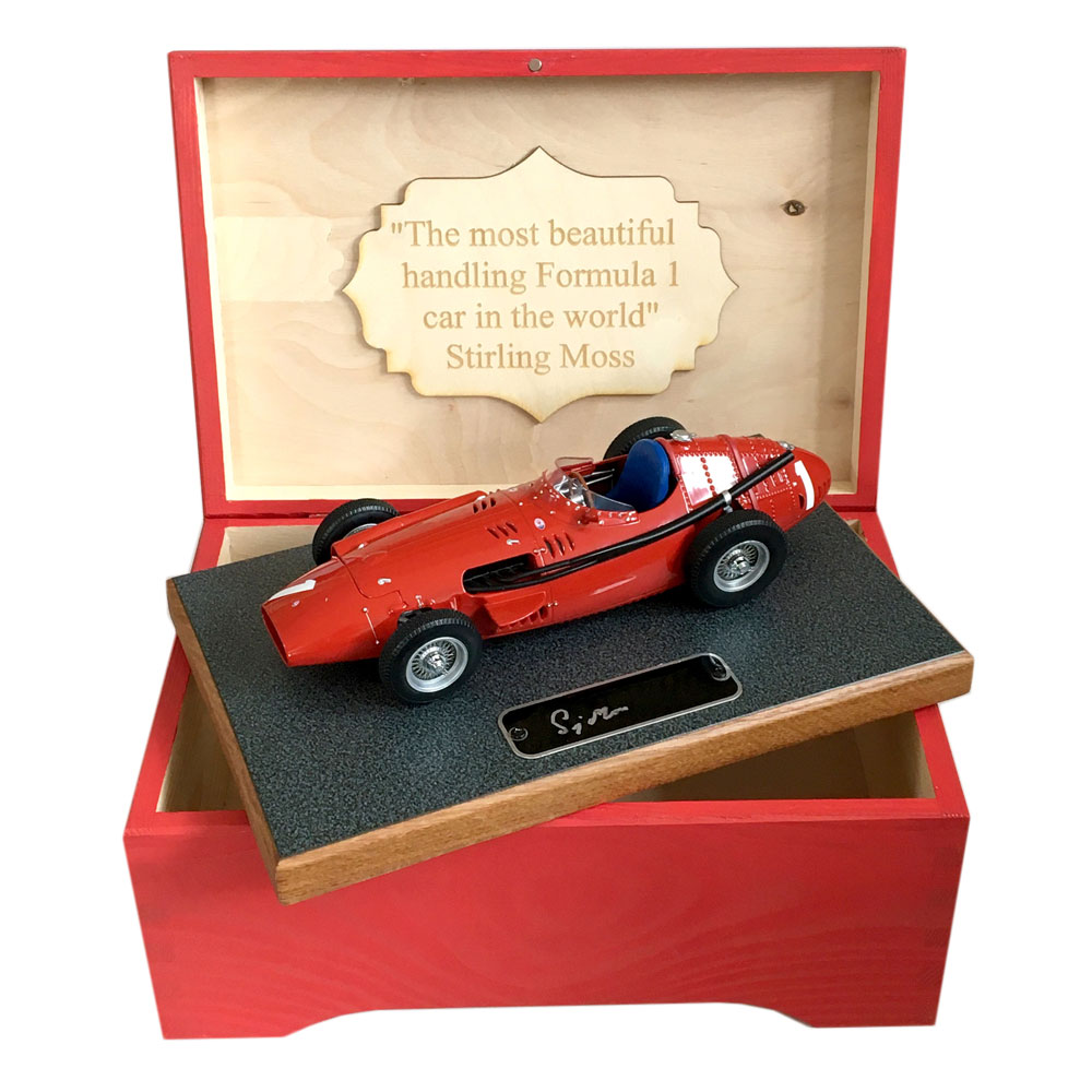 Product image for Maserati 250F, signed Stirling Moss, Boxed 1:18