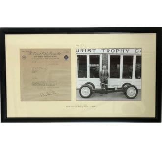 Product image for Mike Hawthorn - Ferrari - 1958   Tourist Trophy garage letter   signed Mike Hawthorn
