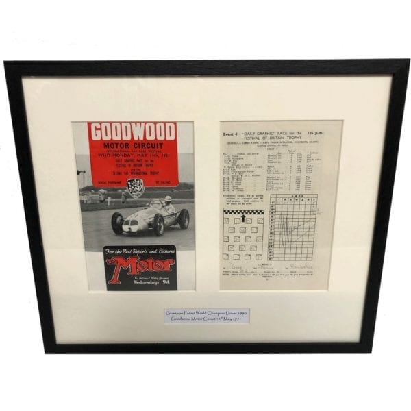 Goodwood Programme signed by Giuseppe Farina