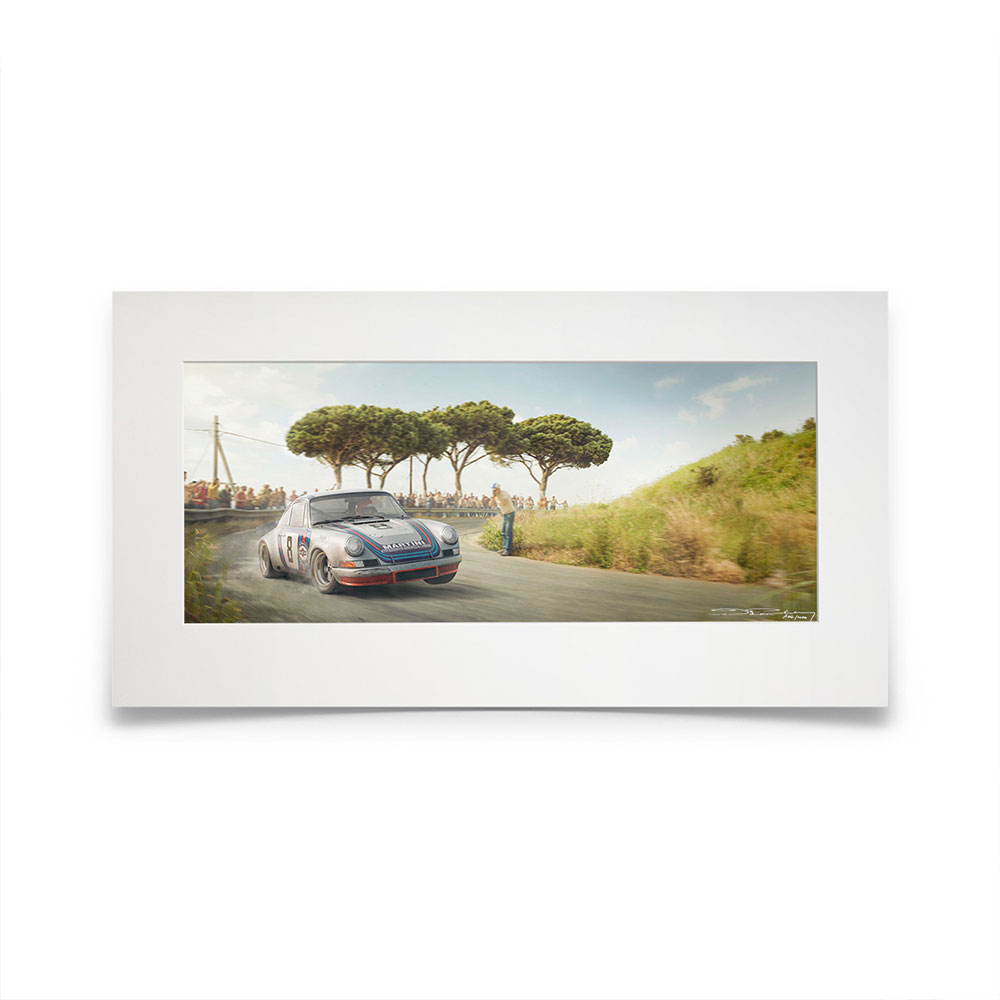 Product image for Racing Sport Redefined   Herbert Müller - Porsche 911 Carrera RSR - 1973   Automobilist   Artwork