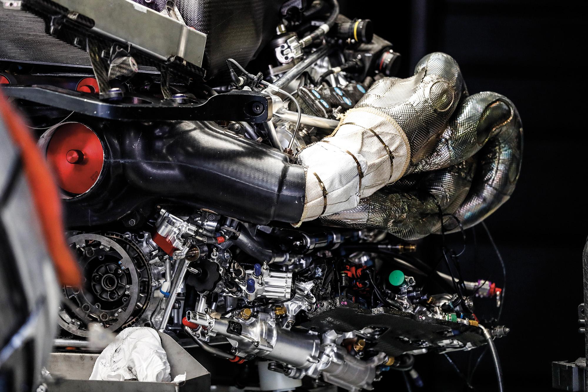 Formula 1 hybrid engine