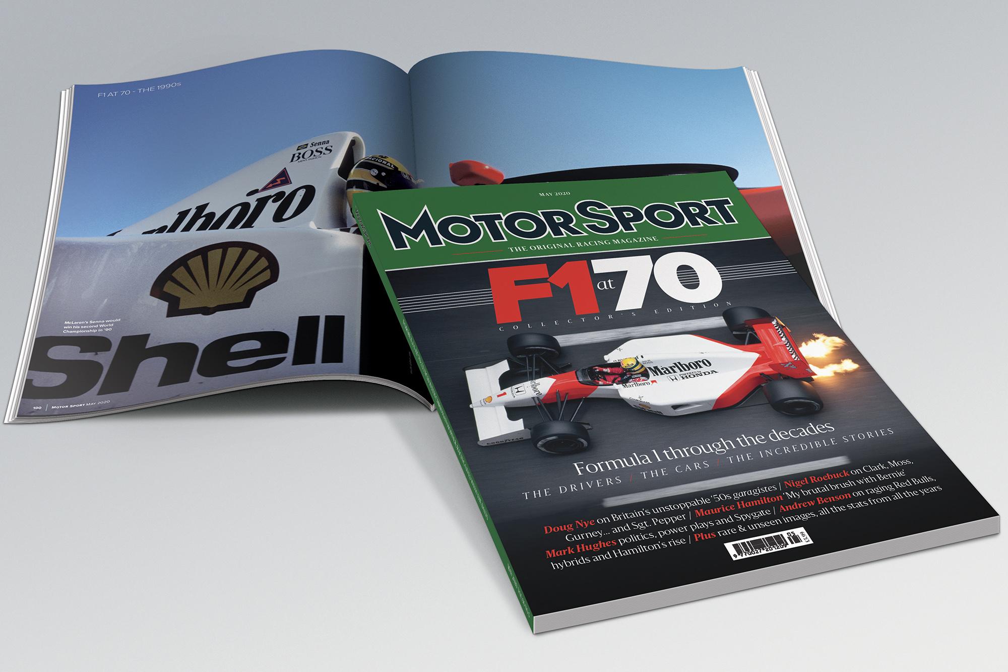 f1 70 cover and spread