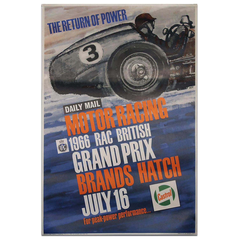 Product image for F1   British Grand Prix – 1966 – Brands Hatch   original vintage poster
