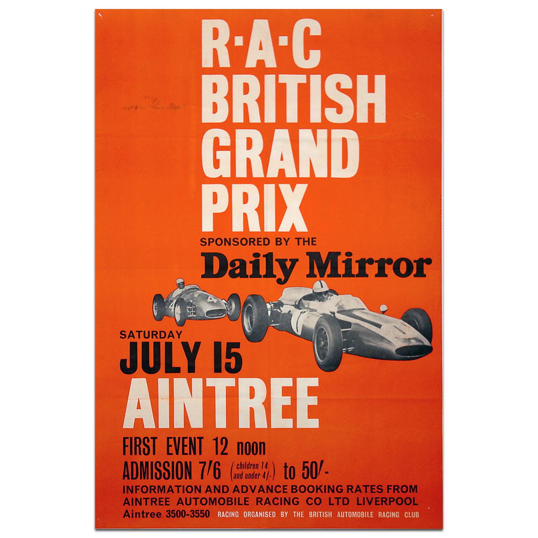 Product image for F1 | British Grand Prix - 1961 - Aintree | original vintage poster