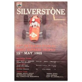 Product image for F1 | British International Trophy Race - 1965 - Silverstone | original vintage poster