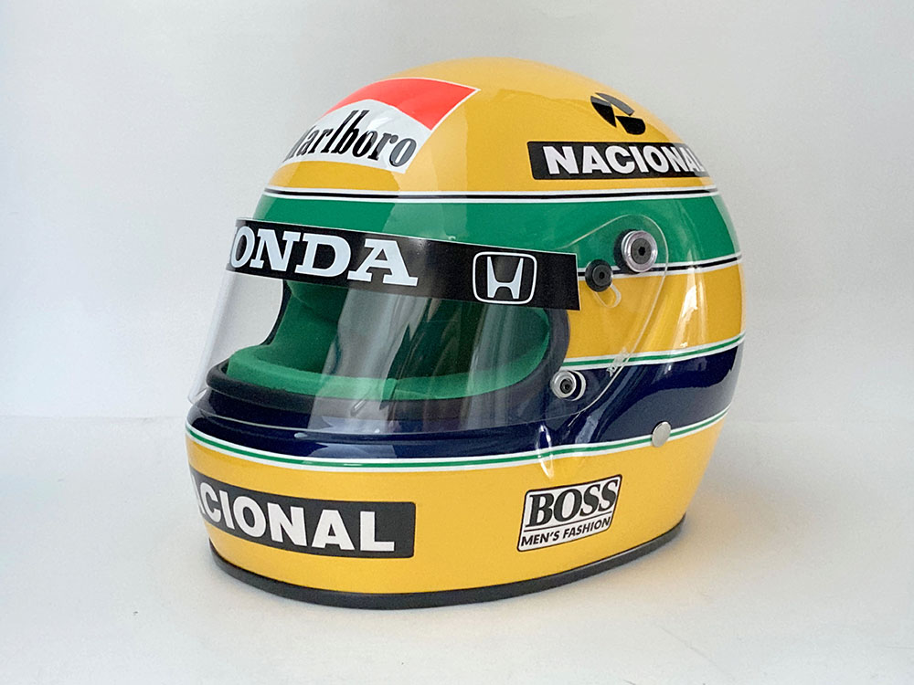 Product image for Ayrton Senna | full size helmet | 1991 Brazilian Grand Prix