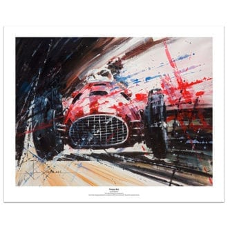 Product image for Pampas Bull   Froilan Gonzalez - Ferrari - 1951   John Ketchell   Art Print