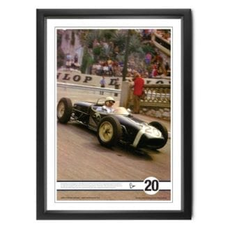 Product image for Moss at Monaco | Stirling Moss - Lotus - 1961 | colour print | signed Stirling Moss
