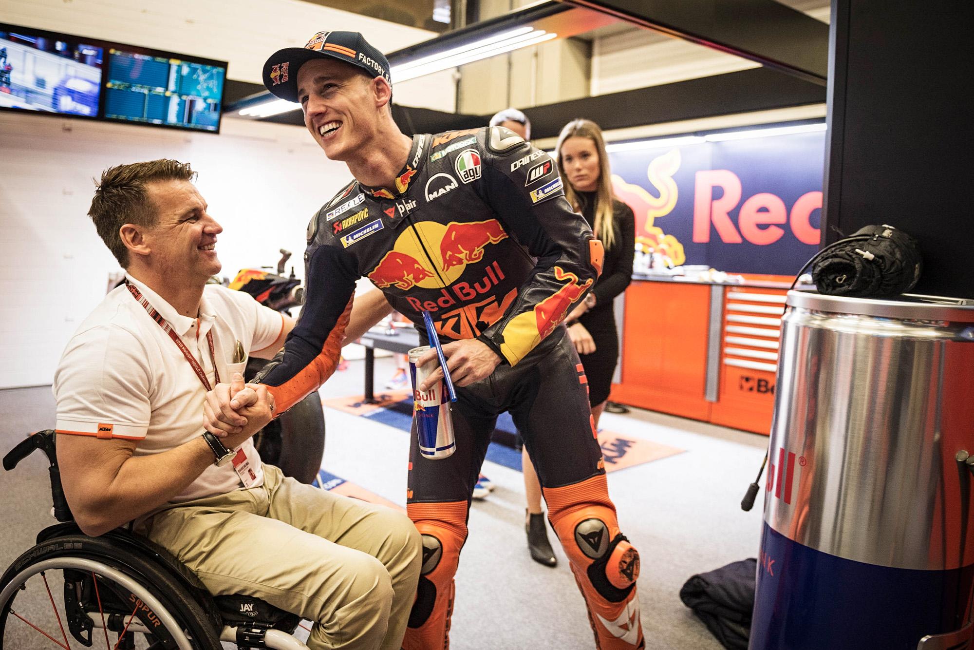 KTMs Pit Beirer with Pol Espargaro