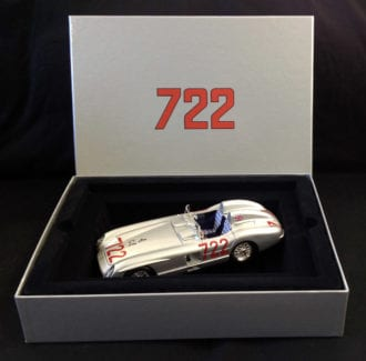Product image for Stirling Moss signed Mercedes-Benz 300 SLR - 1955 Mille Miglia | model | signed Stirling Moss | 1:18 scale